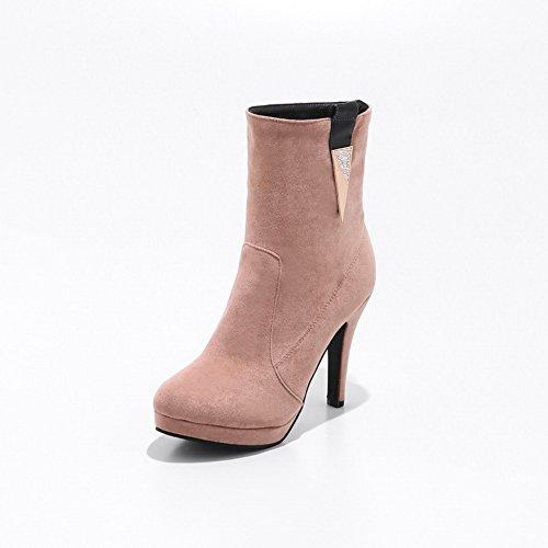 SXC02610 AdeeSu Microsuede Stiefel Samtfutter Heels Womens Square Plattform Baq0B8