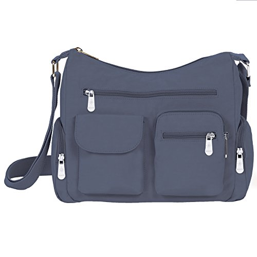Mondo Nylon Shoulder Satchel Crossbody Lightweight Multi Function Travel Handbag by Mondo Handbags