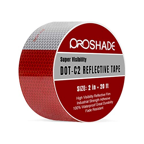 (2'' × 20' DOT-C2 Reflective Tape, Reflector Conspicuity Tape Stickers High Intensity Waterproof for Trailers,Trucks,Cars. (2'' × 20'))