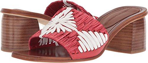 (Sigerson Morrison Women's MARNIN Heeled Sandal, red/White, 8.5 Medium US)