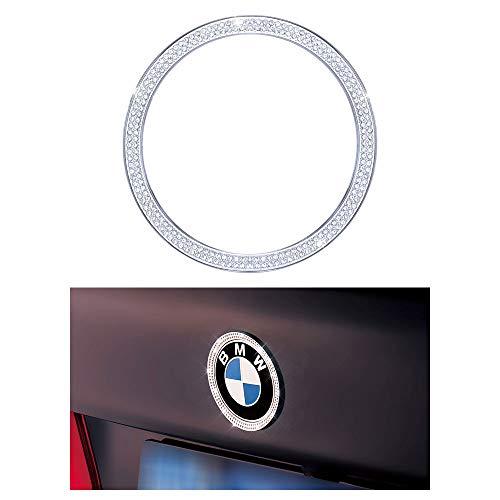 (1797 Compatible Rear LOGO Caps for BMW Accessories Parts Emblem Covers Decals Stickers Bling Interior Decorations 3 Series F30 G20 320i 325i 325ix 328d 328i 330i 335i AWD Women Men Crystal Silver)
