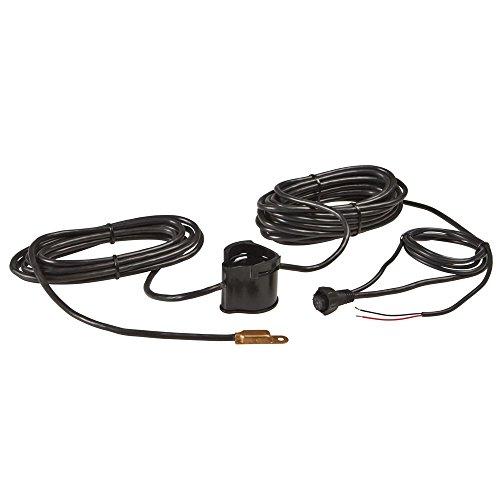 - Lowrance PDRT-WSU Pod Style Remote Temperature Transducer, 83/200-Kilohertz, Black Finish