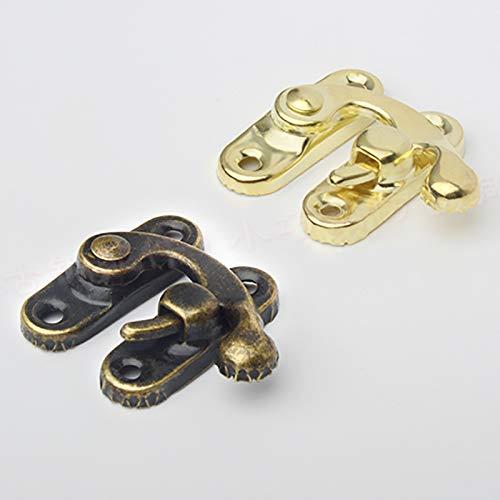 Verdelife 12pcs Antique Bronze Iron Padlock Hasp Hook Lock For Mini Jewelry Wooden Box With Screws Furniture Hardware