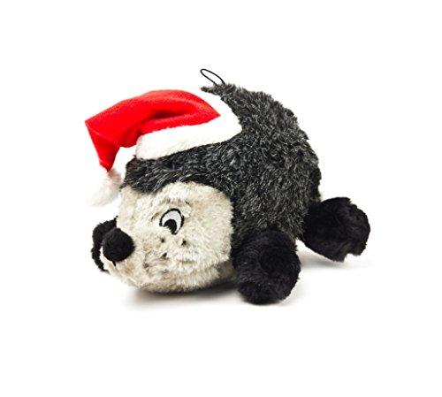 - Outward Hound Kyjen  32110 Hedgehog Squeaking Plush Dog Toy Holiday and Christmas Dog Toy, Large, Grey