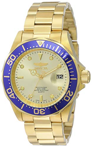 Invicta Men's 14124 Pro Diver Gold Dial 18k Gold Ion-Plated Stainless Steel Watch ()