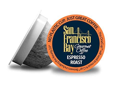Coffee Pods Espresso (San Francisco Bay OneCup, Espresso Roast, 36 Count- Single Serve Coffee, Compatible with Keurig K-cup Brewers)