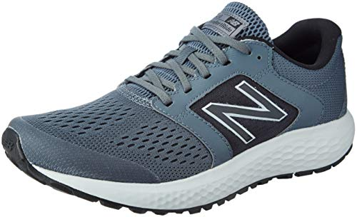 New Balance Men's 520v5 Cushioning Running Shoe, Lead/Light Aluminum/Black, 10.5 D US