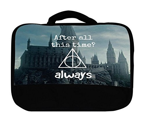 Old Castle Background Interesting Quote Design Print Image Canvas Lunch Bag by Trendy Accessories