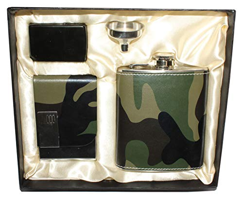Hip Flask Set -7 Oz 100% Stainless Steel