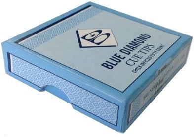 Diamante azul tacos de billar consejos Talla:Box of 50: Amazon.es ...
