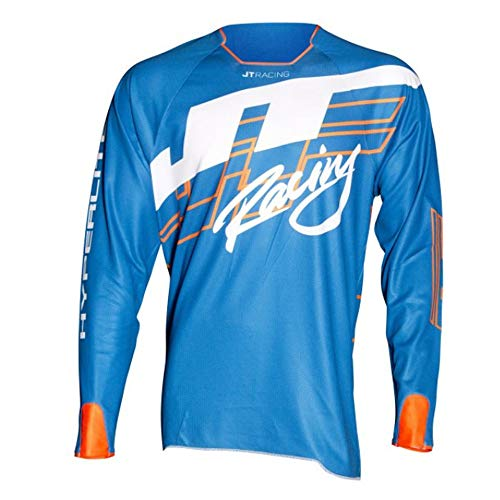JT Racing Hyper Shuffle Jersey BL/FOW Large Blue from JT Racing USA