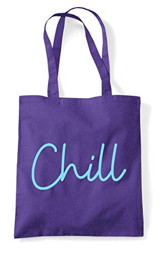 Purple Statement Quote Hashtag Tote Shopper Bag Chill Yqv7Rq