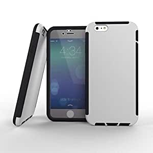 TLB 2 in1 Hybrid High Impact Hard Silicone Case for iPhone 6 Plus