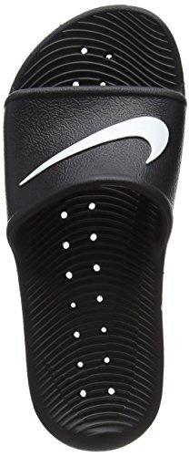 NIKE Womens Kawa Shower Black White Synthetic Sandals 8 US