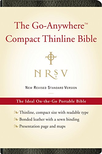 NRSV Go-Anywhere Compact Thinline Bible (Bonded Leather, Black)