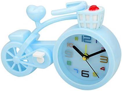 N/P Alarm Clock for Kids Bike Lover, Bedroom Decor, for Kids(Pink Blue