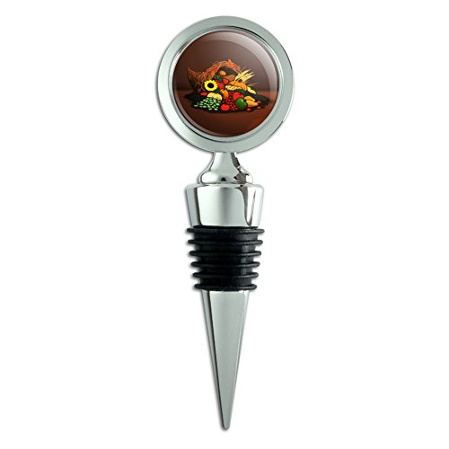Autumn Fall Wine Bottle Stoppers - Cornucopia Thanksgiving Holiday Autumn Fall Wine Bottle Stopper
