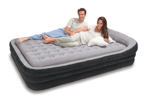 Intex Comfort Frame Airbed Kit, Queen, Outdoor Stuffs