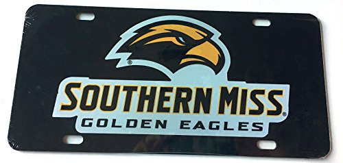 Price comparison product image Southern Miss Golden Eagles License Plate - USM Acrylic Car Tag with Reflective Decal
