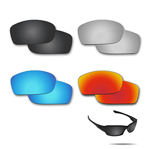 Fiskr Polarized Replacement Lenses for Oakley Fives Squared Sunglasses 4 Pairs - Define Polarized Lenses