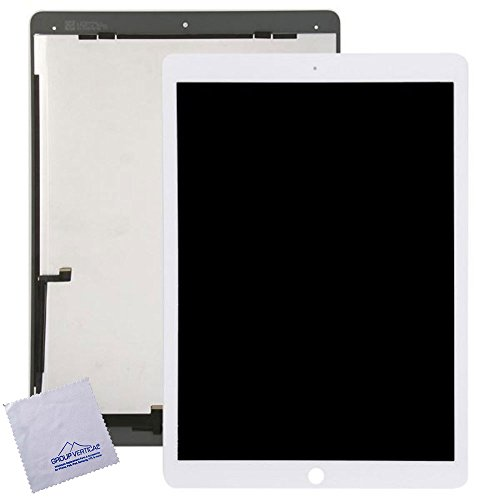 Lot of 2 LCD + Touch Screen Digitizer Assembly w installed flex IC chip for iPad pro 12.9 inch White A1584, A1652 by Group Vertical by Group Vertical