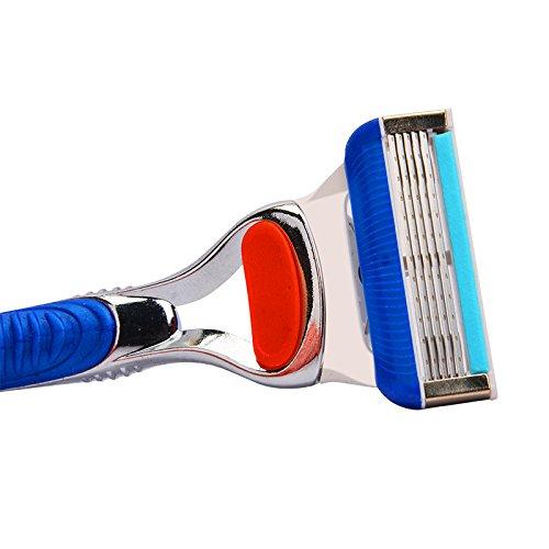Safety Razor Blades Electric Razor Blades - Upgrade Razor Blades For Men Shaving, 4pcs/lot 5 Layer White Blade Portable Safety Shaver Blades - Feather Razor Blades by SumozTalk (Image #2)