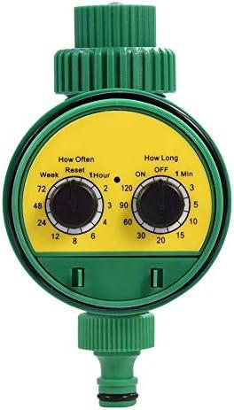 GZD Automatische Bewässerung Timer, Multi-Funktions-Elektronik-Zwei Dial Digitale Bewässerung Timer-Steuerung für Gartenpflanze, Balkon, Gemüsegarten