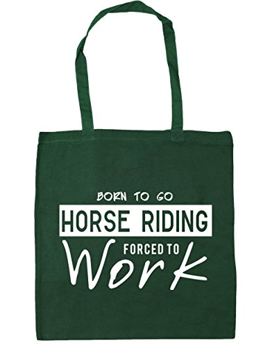 to Beach 10 litres to Shopping HippoWarehouse Bottle Green Horse Go Forced 42cm Born x38cm Gym Tote Work Riding Bag YWaRfZ