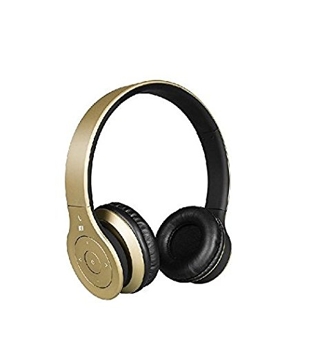 Crabot AN-001 Wireless Bluetooth Stereo Headset Headphone for iphone HTC Samsung Galaxy Cell phone PC Laptop (gold)