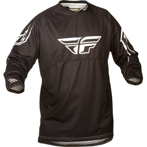 Fly Racing Ripa Convert Men's MotoX/Off-Road/Dirt Bike Motorcycle Jersey - Black/White / Medium