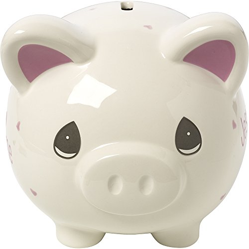 Precious Moments,  Jesus Loves Me, Ceramic Piggy Bank, Girl, 164460 by Precious Moments (Image #3)