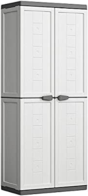 Keter Armoire Haute Jolly Blanc Gris Cabinets 68x39x39x166 Cm