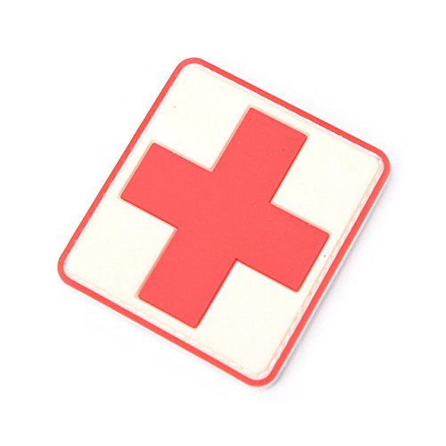 New 3d Pvc Rubber Medic Paramedic Red Cross Flag Of Switzerland Swiss Cross Patch Backpack Tactical Army Morale Badge Patches Entertainment Memorabilia