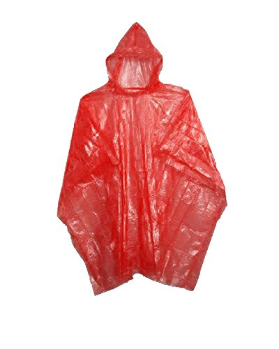 Emergency Red Rain Ponchos - Lightweight & Disposable 10 Pack… (Cheap Kids)