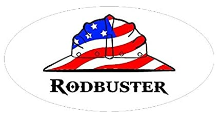 RODBUSTER HARD HAT STICKER 3pack