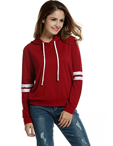 Zeagoo Pullover Hoodie Striped Sweatshirt