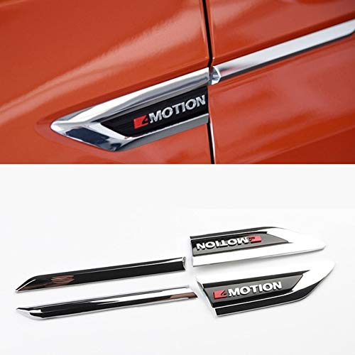 Exterior Parts Car 4 Motion 4Motion 4X4 Original Door Side Wing Fender Emblem Badge Sticker Trim For Vw Tiguan Mk2 2016 2017 2018 Accessories - (Color: With 4Motion) by Yoton