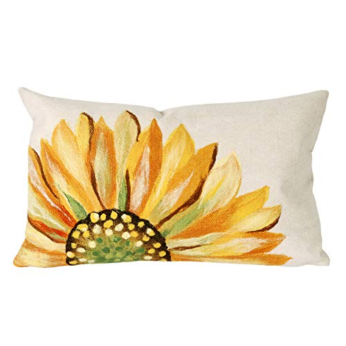 Liora Manne 7S02SA37109 Mystic III Summer Flower Yellow Indoor/Outdoor Pillow