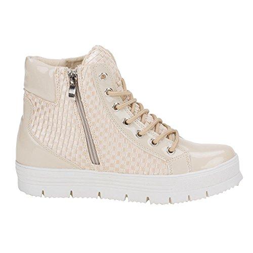 Ital-Design - Zapatillas de Material Sintético para mujer Beige - beige