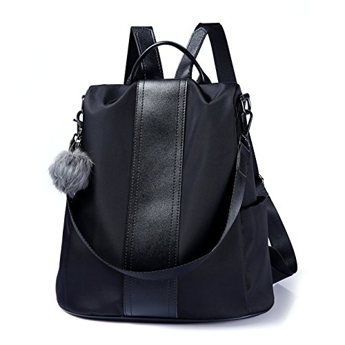 en de sac cuir femme Élégant dos grand à Noir1 Marron Cartable Fanshu PU imperméable IUxdBq6qwz