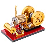 Flameer Powerful Double-flywheel Stirling Engine Motor Heat Power Model Mechanism Energy Conversion Collection Toy Gift