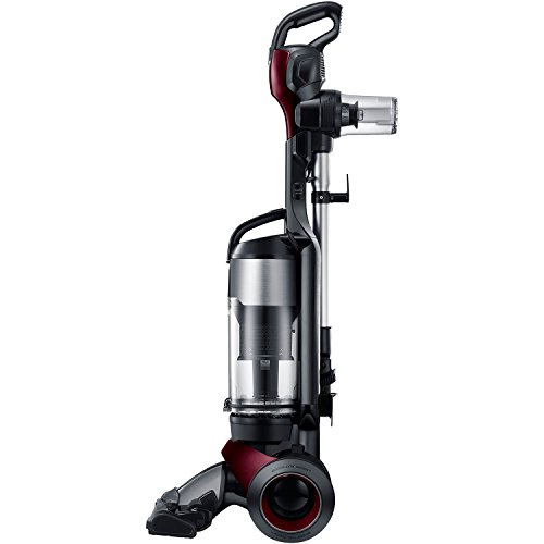 Samsung MotionSync Bagless Upright Vacuum with Detachable Handheld Vac and Built-In Accessories - Refined Wine - Corded
