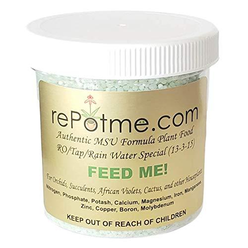rePotme Orchid Food - Feed ME! MSU Fertilizer - RO/Rain/Tap Water (8 oz)