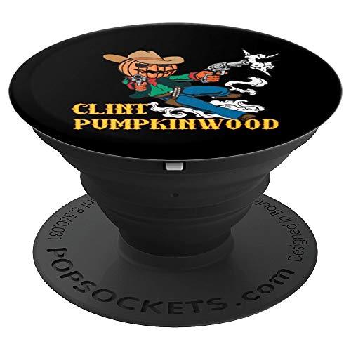 (Clint Pumpkinwood Halloween Pumpkin Cowboy - PopSockets Grip and Stand for Phones and)