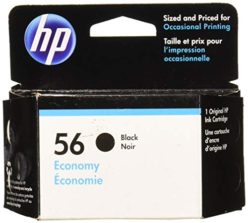 HP 56 Ink Cartridge Black Economy (D8J31AN) for HP Deskjet 450 5550 5650 5850 9650 9680 HP Officejet 4215 5610 6110HP Photosmart 7260 7350 7450 7550 7755 7760 7762 7960 ()