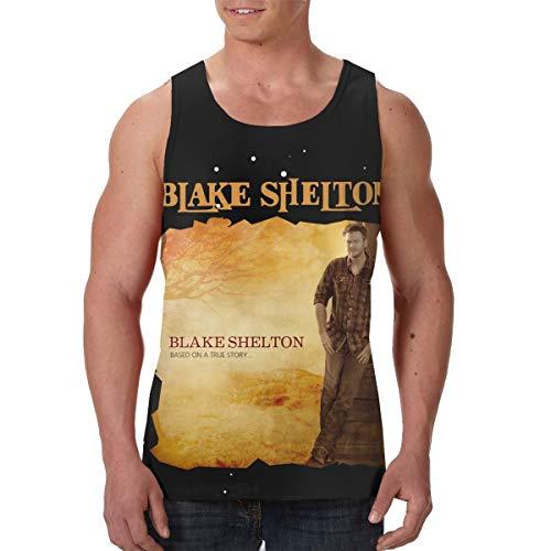 AvisN Men's Blake Shelton Based On A True Story Basic Muscle Tank Top Jersey S Black -