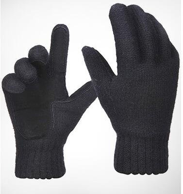 Oryer Mens Winter Gloves Warm Wool Knit Mittens Fleece Lined Cold Weather Gloves