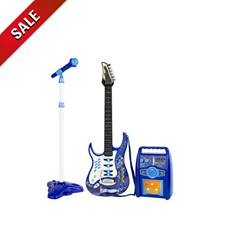 ATS Guitar Kit for Kids Electric Guitar with Strap Set Guitar Toy with Microphone Children Learn Guitar Play Musical Instruments & eBook by AllTim3Shopping