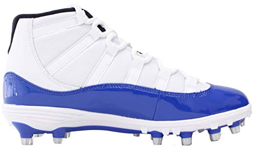 887bc411a7d027 Nike Men s AIR Jordan XI Retro TD Football Cleat White Game ...
