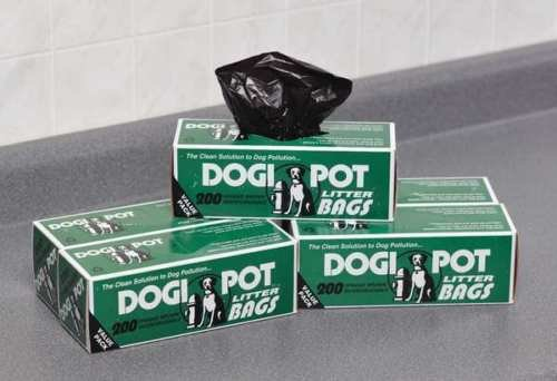 DOGIPOT 1402-30 30 Roll Case, Litter Pick up Bag Rolls, 200 Bags per Roll (6000 Bags) by Dogipot